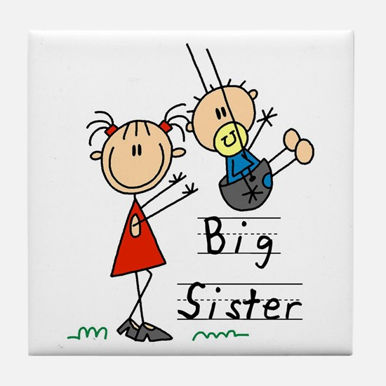 Swing Big Sister Little Brother Tile Coaster