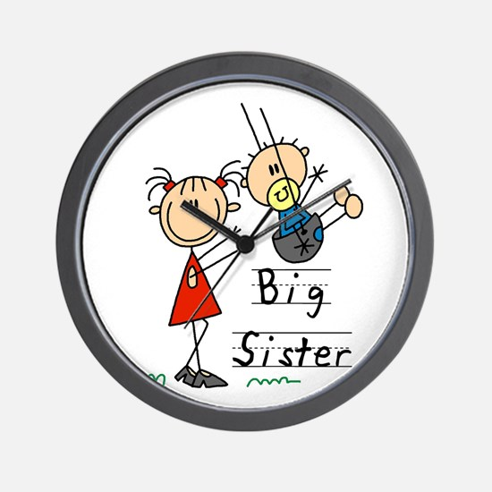 Swing Big Sister Little Brother Wall Clock