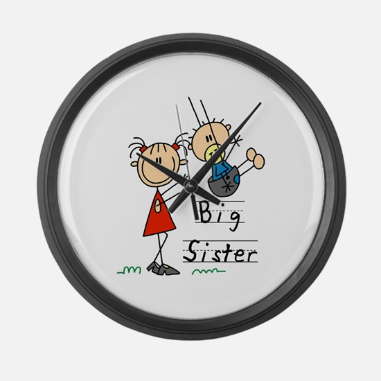 Swing Big Sister Little Brother Large Wall Clock
