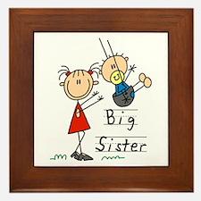 Swing Big Sister Little Brother Framed Tile