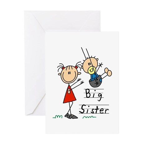 swing big sister little brother greeting card