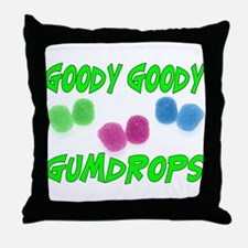 Goody Gumdrops Throw Pillow