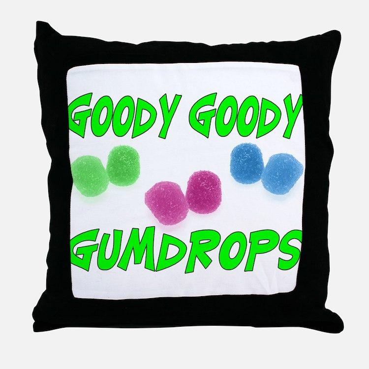 Goody Gumdrops Throw Pillow