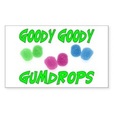 Goody Gumdrops Rectangle Decal