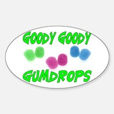 Goody Gumdrops Oval Decal