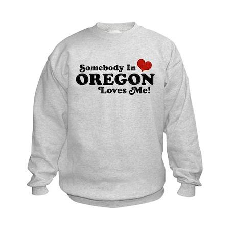 Somebody in Oregon Loves Me Kids Sweatshirt