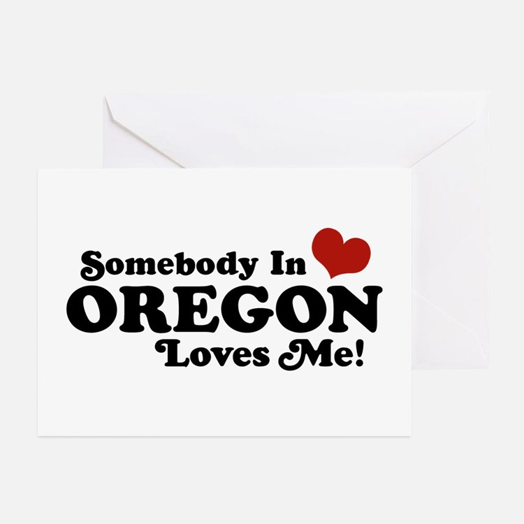 Somebody in Oregon Loves Me Greeting Cards (Pk of