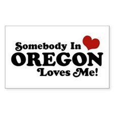 Somebody in Oregon Loves Me Rectangle Decal