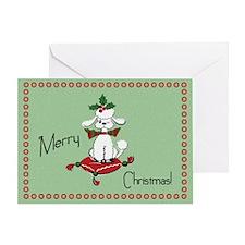 Retro Dog Christmas Card