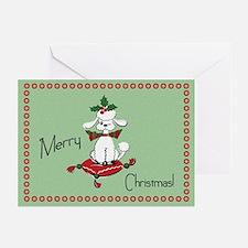 Retro Style Dog Christmas Greeting Cards