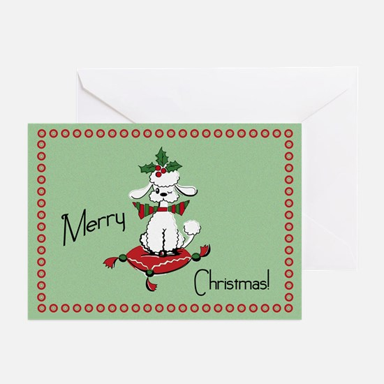 Retro Style Dog Christmas Greeting Cards