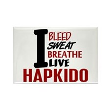 Bleed Sweat Breathe Hapkido Rectangle Magnet