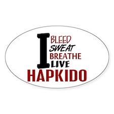 Bleed Sweat Breathe Hapkido Oval Decal