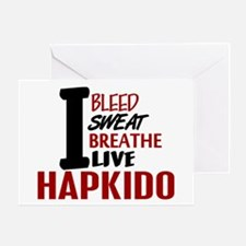 Bleed Sweat Breathe Hapkido Greeting Card