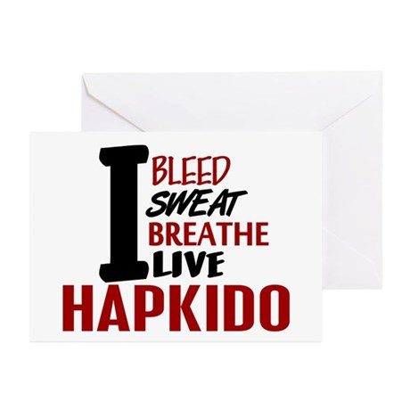 Bleed Sweat Breathe Hapkido Greeting Cards (Pk of