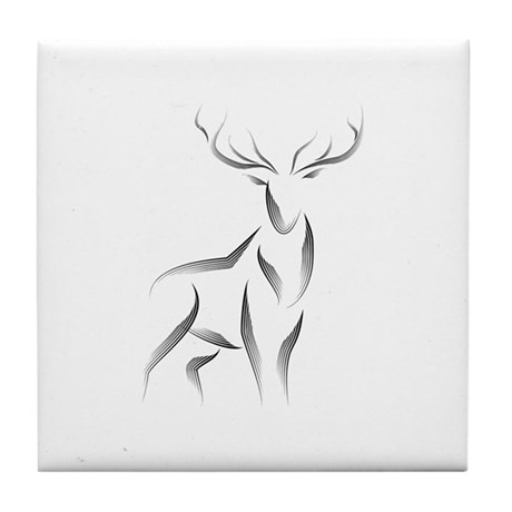 The Stag Tile Coaster