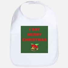 Say Merry Christmas Bib