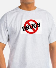 Anti Drugs Ash Grey T-Shirt