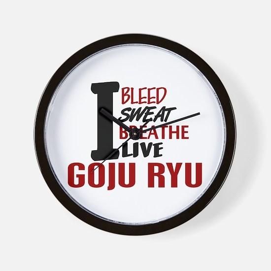 Bleed Sweat Breathe Goju Ryu Wall Clock