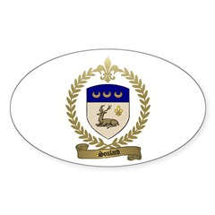 SOULARD Family Crest Oval Decal