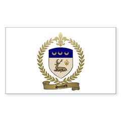 SOULARD Family Crest Rectangle Decal