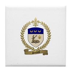 SOULARD Family Crest Tile Coaster