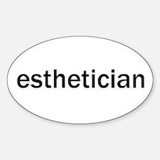 Esthetician Oval Decal
