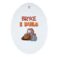Bryce the Builder Oval Ornament