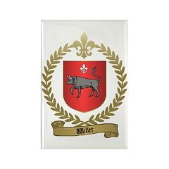WILLET Family Crest Rectangle Magnet (100 pack)