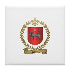 WILLET Family Crest Tile Coaster