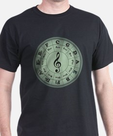 Green Circle of Fifths T-Shirt