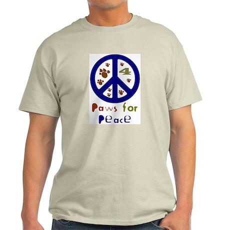 Koy's Logo + Paws 4 Peace Ash Grey T-Shirt