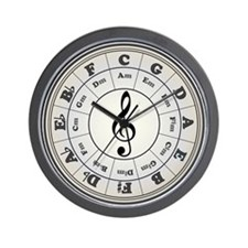 """Pearl"" Circle of Fifths Wall Clock"