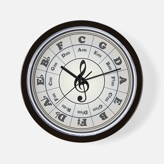 """Pearl"" Circle of Fifths Wall Clock"