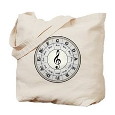 """""""Pearl"""" Circle of Fifths Tote Bag"""
