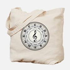 """Pearl"" Circle of Fifths Tote Bag"