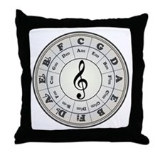 """""""Pearl"""" Circle of Fifths Throw Pillow"""