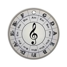 """""""Pearl"""" Circle of Fifths Ornament (Round"""