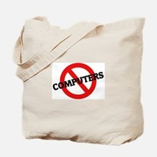Anti Computers Tote Bag