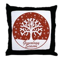 Genealogy Season Throw Pillow