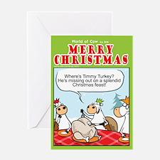 Timmy Turkey Greeting Card