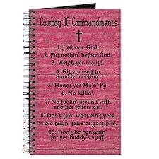 Cowboy 10 Commandments Journal