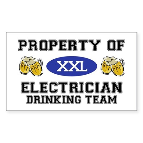 Property of Electrician Drinking Team Sticker (Rec