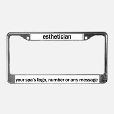 Esthetician License Plate Frame