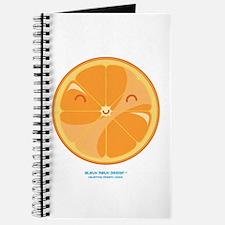 Kawaii Orange Slice No Squirt Journal