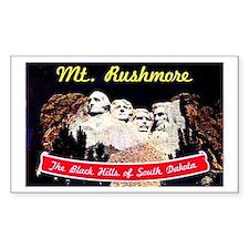 Mt Rushmore South Dakota Rectangle Decal