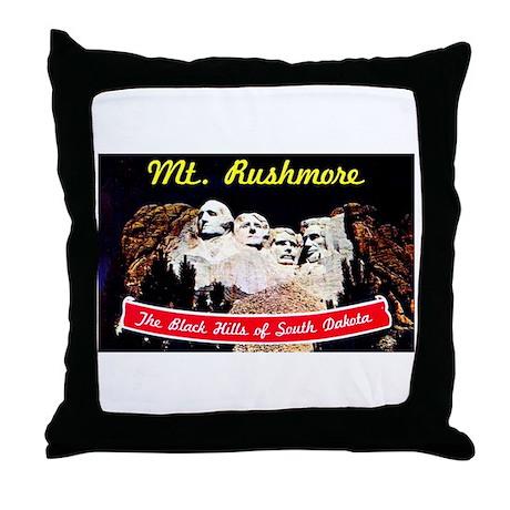 Mt Rushmore South Dakota Throw Pillow