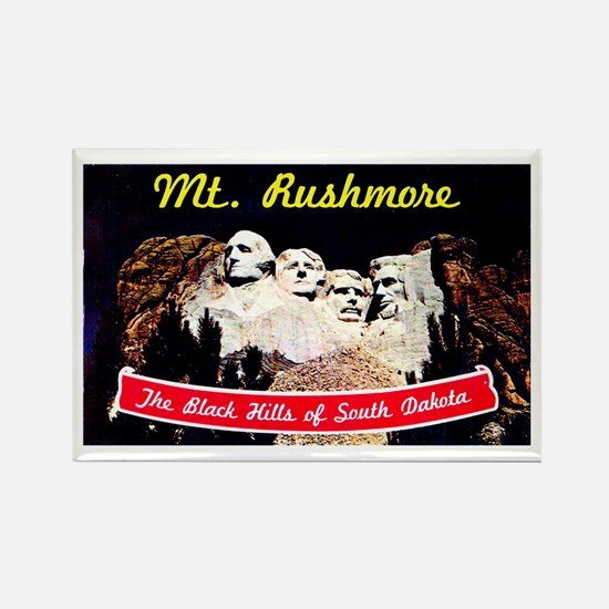 Mt Rushmore South Dakota Rectangle Magnet