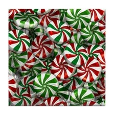 Peppermint Memories Tile Coaster