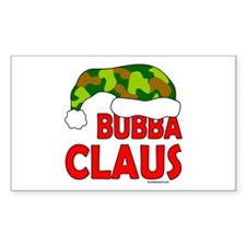 BUBBA/SANTA CLAUS Rectangle Decal